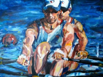 sport on water impressionist Oil Paintings