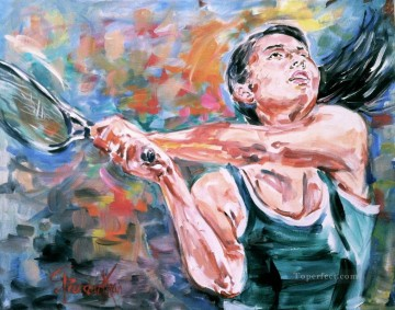 Sport Painting - tennis ball impressionist