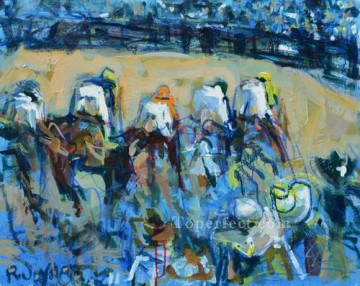yxr001eD impressionism sport horse racing Oil Paintings