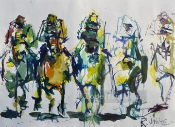 yxr002eD impressionism sport horse racing Oil Paintings