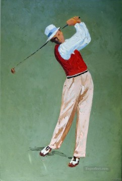 yxr0038 impressionism sport golf Oil Paintings