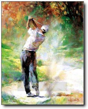golf Oil Painting - yxr0039 impressionism sport golf