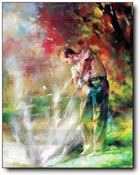 yxr0048 impressionism sport golf Oil Paintings