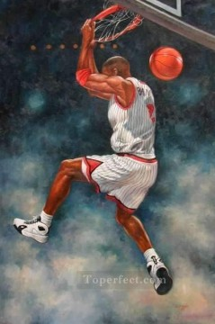 yxr006eD impressionism sport basketball Oil Paintings