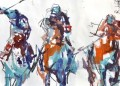 yxr007eD impressionism sport horse racing painting