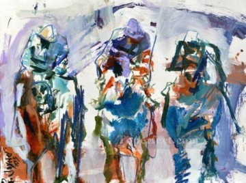 horce races racing Painting - yxr008eD impressionism sport horse racing