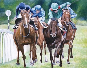 horce races racing Painting - yxr012eD11 impressionism sport horse racing