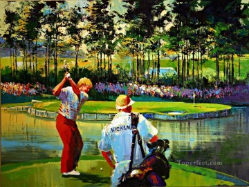 Nicklaus sport impressionist Oil Paintings