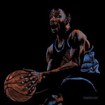 basketball 08 impressionist Oil Paintings