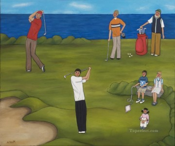 golf oil painting - golf 13 impressionist