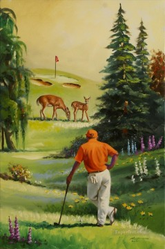 golf Oil Painting - golf course 05 impressionist