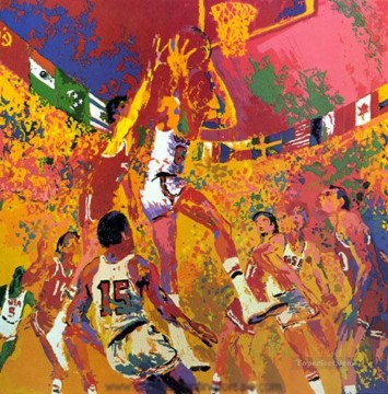 basketball 12 2 impressionist Oil Paintings