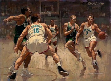 basketball 19 impressionist Oil Paintings