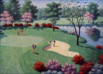 golf oil painting - golf 09 impressionist