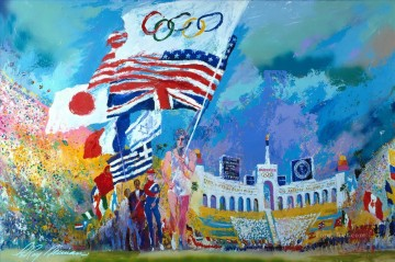 Opening Ceremonies impressionist Oil Paintings