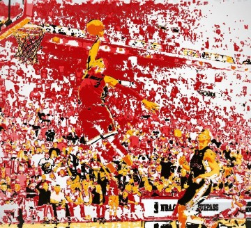 basketball 13 impressionist Oil Paintings