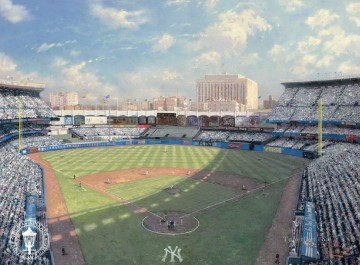 Yankee Stadium Thomas Kinkade impressionist Oil Paintings