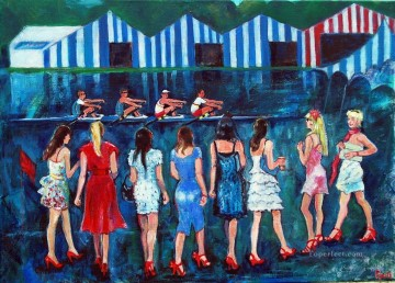 Sport Painting - regatta girls impressionist