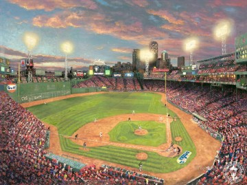 Fenway Park Thomas Kinkade impressionist Oil Paintings