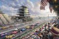 Indy Excitement 100 Years of Racing at Indianapolis Motor Speedway Thomas Kinkade impressionist