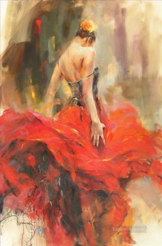 Beautiful Girl Dancer AR 05 Impressionist Oil Paintings