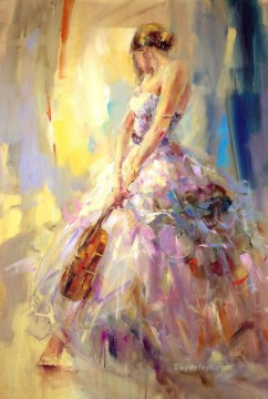Women Painting - Beautiful Girl Dancer AR 06 Impressionist