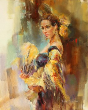 Beautiful Girl Dancer AR 07 Impressionist Oil Paintings