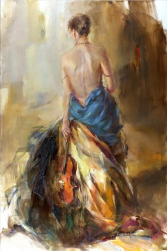 Women Painting - Beautiful Girl Dancer AR 09 Impressionist