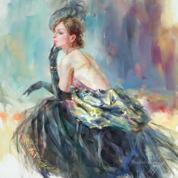 Beautiful Girl Dancer AR 10 Impressionist Oil Paintings
