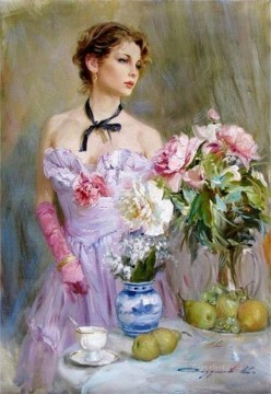 Women Painting - Beautiful Girl KR 008 Impressionist