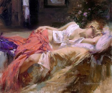 Day Dream Pino Daeni beautiful woman Oil Paintings