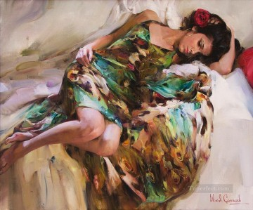 Women Painting - In_a_Gypsy_Dress MIG Impressionist