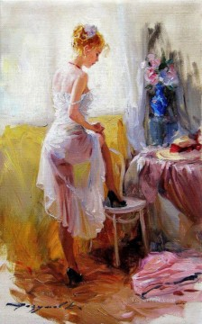 Jeune Femme a sa Toilette Impressionist Oil Paintings
