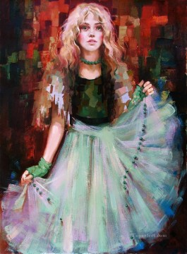 Lovely Girl IS 05 Impressionist Oil Paintings