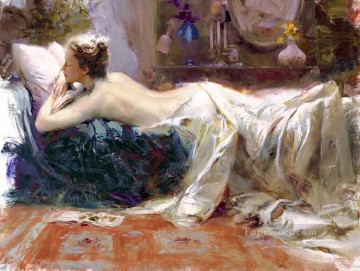 Women Painting - Mystic Dreams lady painter Pino Daeni beautiful woman lady