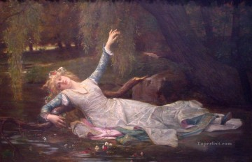 Ophelia Henrietta Rae Victorian female painter woman Oil Paintings