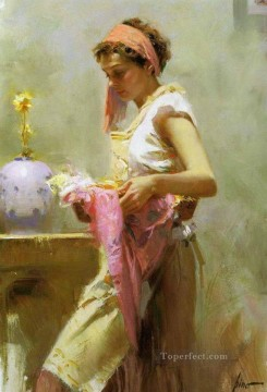 Women Painting - Pino Daeni 14 beautiful woman lady