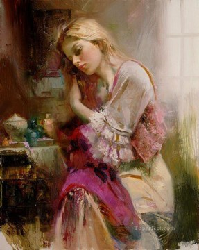 Pino Daeni 16 beautiful woman lady Oil Paintings