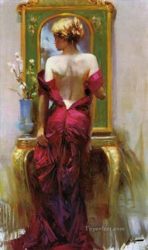 Pino Daeni 2 beautiful woman lady Oil Paintings