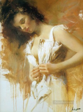 Pino Daeni 9 beautiful woman lady Oil Paintings