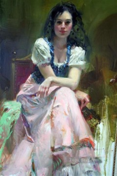 Women Painting - Pino Daeni Dreaming Madrid beautiful woman lady