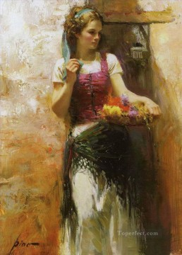 Women Painting - Pino Daeni girl 2 beautiful woman lady