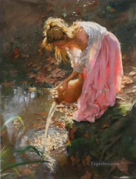 Women Painting - Pino Daeni girl beautiful woman lady