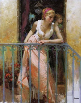 Women Painting - Pino Daeni watching beautiful woman lady