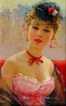 Portrait of Elodie Impressionist Oil Paintings