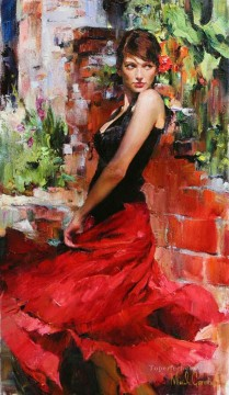 Pretty Girl MIG 01 Impressionist Oil Paintings