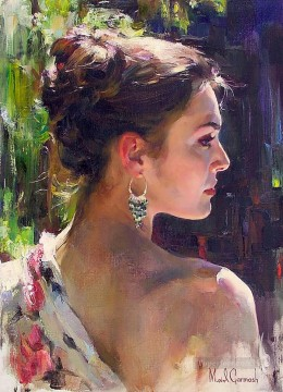 Pretty Girl MIG 04 Impressionist Oil Paintings