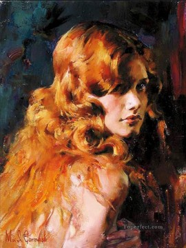 Pretty Girl MIG 15 Impressionist Oil Paintings