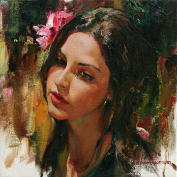 Pretty Girl MIG 20 Impressionist Oil Paintings