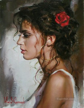 Pretty Girl MIG 34 Impressionist Oil Paintings